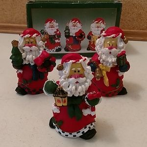 Other - 5/$25 Set of 3 Santa Claus figurines with box